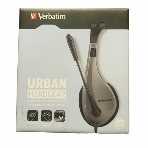 Verbatim Multimedia Headset with Microphone - Wide Frequency Stereo, 40mm Driver