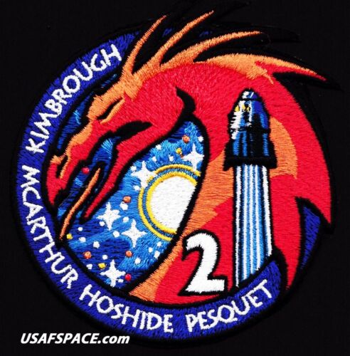Authentic NASA SPACEX -CREW-2- ISS Mission - AB Emblem -CREW DRAGON- SPACE PATCH