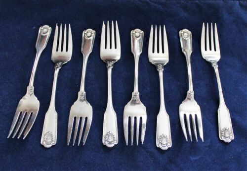 Frank Smith Fiddle Shell Alden Sterling Silver Salad Fork No Mono 8 Available