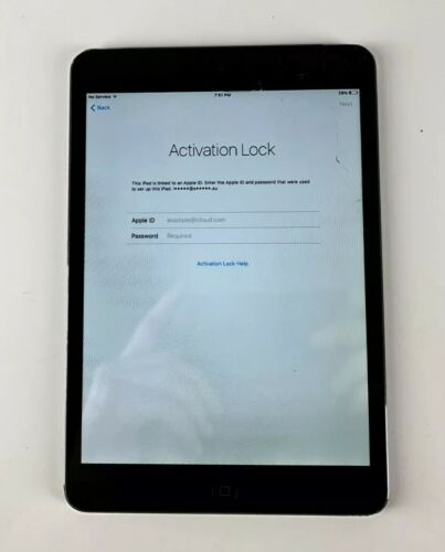 Apple A1455 iPad Mini 1st Gen 16GB WiFi cellular Black Tablet (Locked Apple ID)