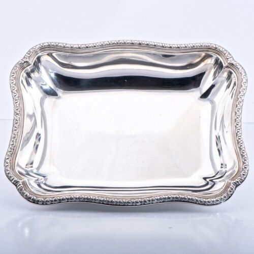 PUIFORCAT 19C Antique French Sterling Silver Serving Dish Bowl Centerpiece Heavy