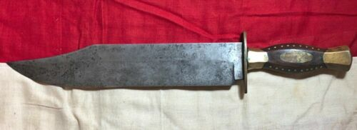 RARE! CIVIL WAR CONFEDERATE PRESENTATION BOWIE KNIFE DAGGER GENERAL JOHN B HOODEdged Weapons - 36037