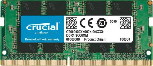 Crucial 32GB DDR4 3200 MHz PC4-25600 SODIMM 260-Pin Laptop Memory CT32G4SFD832A