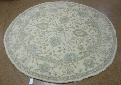 """8'3"""" x 8'3"""" Tribal Hand Knotted Round Area Rug No: H 142477"""