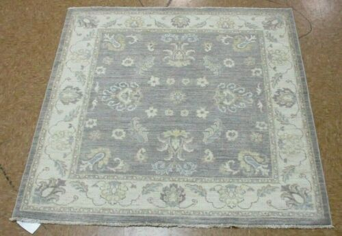 """4' x 4'1"""" Tribal Hand Knotted Area Rug No: H 145702"""