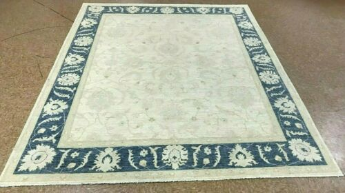 """8'1"""" x 9'9"""" Tribal Hand Knotted Area Rug No: H 141873"""