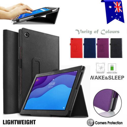 """For Lenovo Tab M10 HD 10.1"""" 2nd Gen TB-X306 Smart Leather Flip Stand Case Cover"""