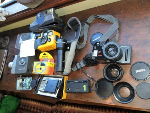 Vintage lot film cameras and accessories