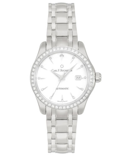 CARL F. BUCHERER MANERO AUTODATE DIAMOND AUTOMATIC LADIES WATCH MSRP: $7,900 <br/> ShopWorn® - Gently Handled, Never Owned