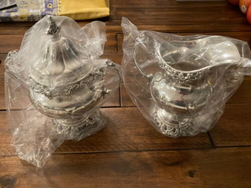 MUSEUM QUALITY CREAMER AND SUGAR SET WALLACE GRANDE BAROQUE STERLING GRAND