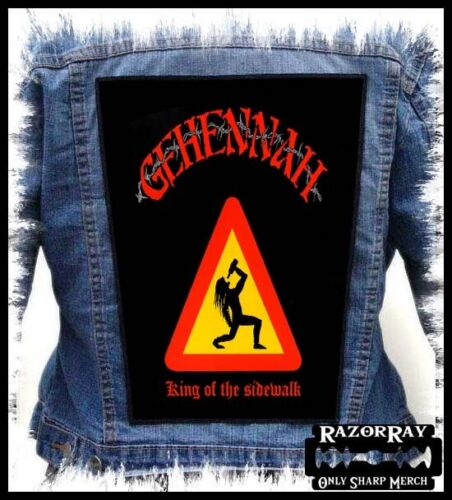 GEHENNAH - King Of The Sidewalk -- Backpatch Back Patch for Battlevest