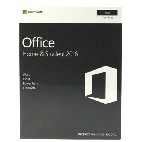 Microsoft Office Home and Student 2016 for Mac Edition GZA00984 1 Mac Sealed Box
