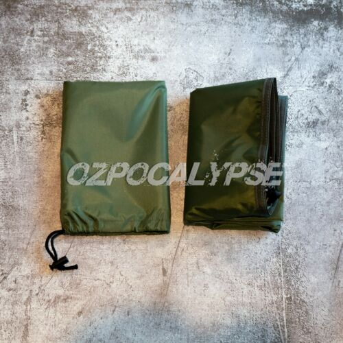 Tactical Tarp OD Green - camping hunting army military tent mat liner molle camp