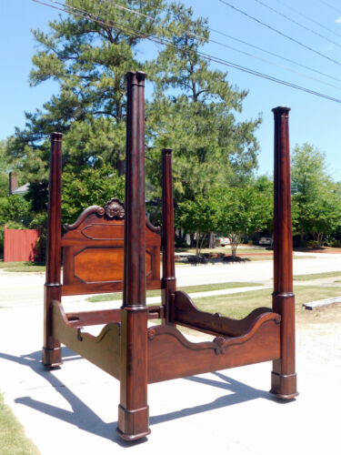 Rosewood Tall Post Bed circa 1860