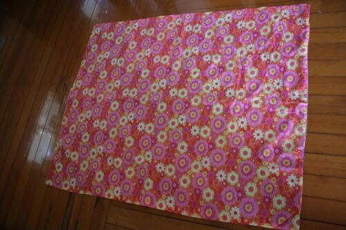 vintage bright material quilt cover home made retro floral seersucker 138x112cm