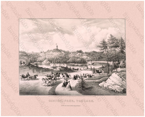 NEW YORK'S CENTRAL PARK 1862 Currier & Ives Restored Litho Photoprint 3 Sizes