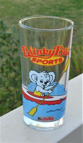 Collectable Nutella Blinky Bill the Koala Sports 'Canoeing' Tumbler Glass
