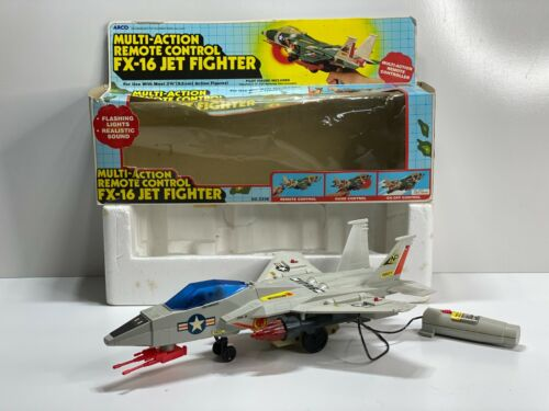 Vintage 1985 ARCO Multi-Action RC FX-16 Jet Fighter NO. 2336 Tested & Working