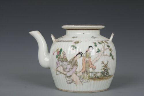 Fine Beautiful Chinese Famille Rose Porcelain Beauty Teapot