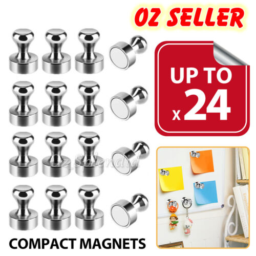 Up To 24x Strong Fridge Magnets Neodymium Magnetic Crafts Whiteboard Push Pins