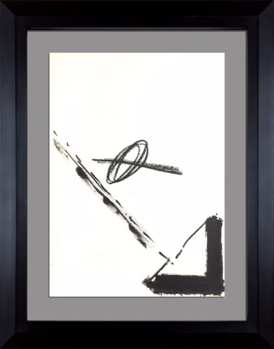 Antoni TAPIES Original LIMITED Lithograph 1968 +++Archival Gallery FRAME