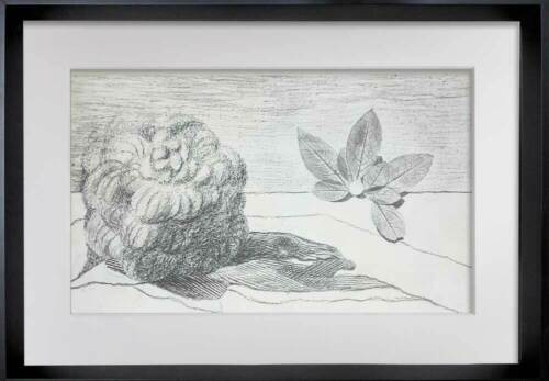 """Max ERNST Lithograph Limited Edition 61/250 """"Fields of Honor..."""" w/ Frame"""