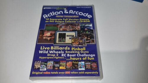 New Sealed Action And Arcade Games Compendium Educational PC CD ROM (10 games)