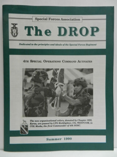"""""""GREEN BERET"""" THE DROP MAGAZINE, SUMMER 1990 ISSUE, SPECIAL FORCES ASSOCIATIONPrice Guides & Publications - 171192"""