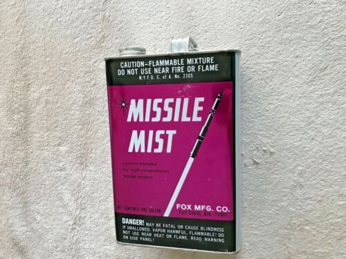 MISSLE MIST--ONE GALLON FUEL CAN--EXCELLENT COLLECTABLE QUALITY--EMPTY CONTAINER