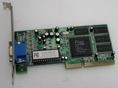 Trident 9880 Blade 3D, 8MB, AGP 1x, HIS-BLADE-3D, VIDEO CARD - WORKING!