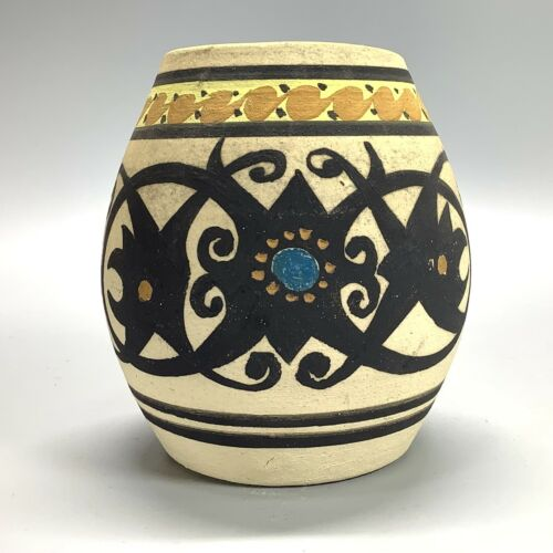 Native American Hand Painted Pottery Jar Pot