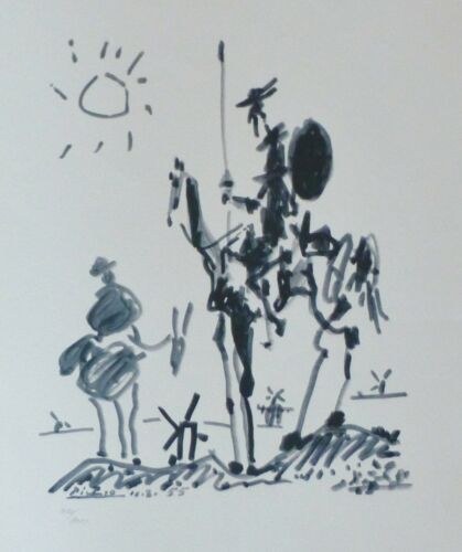 PABLO PICASSO DON QUIXOTE 1955 SIGNED HAND NUMBERED 430/1000 LITHO Quichotte