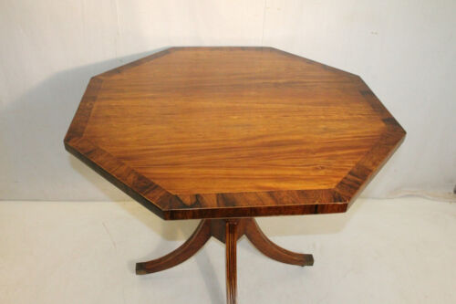 Charming Hand Made Regency Satinwood Center Table With Rosewood Banding