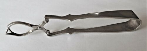 Antique  e.p.n.s. olive/pickle tongs...H T & S made in England c 1920