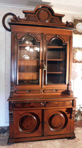 Fantastic Walnut Victoian Secertary with Pull Out Desk and Bookcase Top.