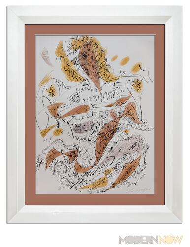 Andre MASSON Lithograph HAND #'ed & SIGNED on Arches ORIGINAL w/Archival FRAMING
