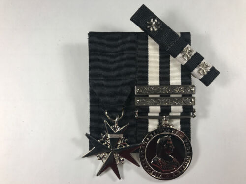 Order of St. John, St. Johns Long Service Medals + 2 clasps + Ribbon BarModern, Current - 36066
