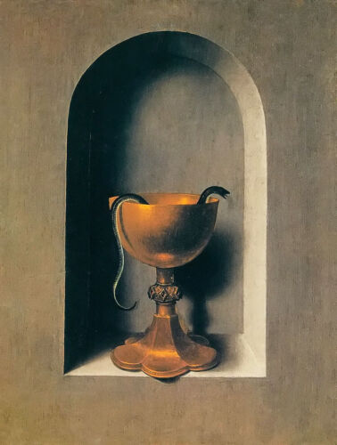 stunning oil painting handpainted on canvas-the chalice of saint jonh the evange