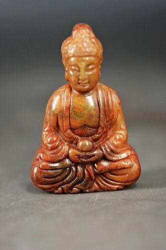 Delicate Chinese Old Jade Carved *Buddha* Pendant/Statue D28