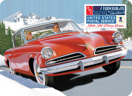 AMT1251 '53 Studebaker Starliner USPS Collectible Tin 1/25 Scale Model Kit