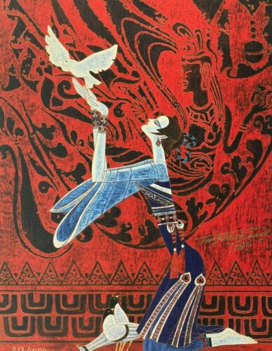 """Ting Shao Kuang Hand Signed Art Print, """"Religion & Peace"""""""