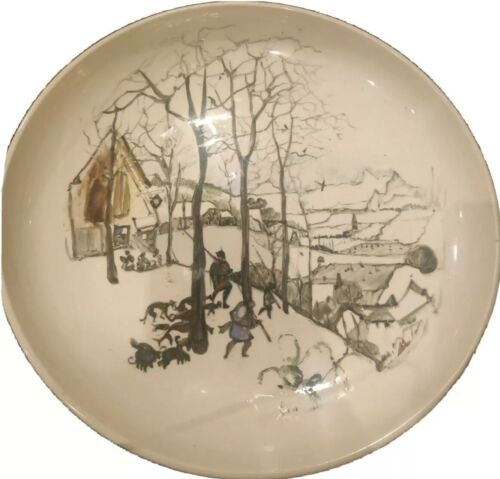AUSTRALIAN POTTERY WALL PLATE HAND PAINTED HOME/LANDSCAPE SIGNED GUY BOYD