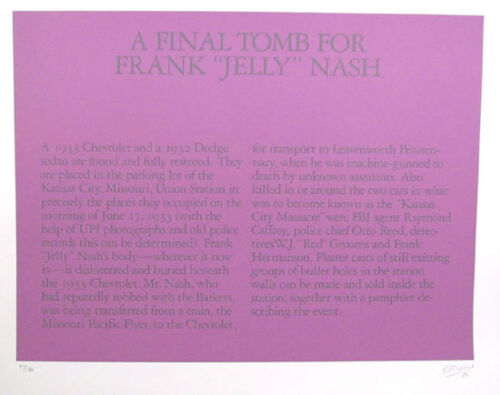 ROBERT MORRIS  A Final Tomb for Frank (Jelly) Nash Or.L