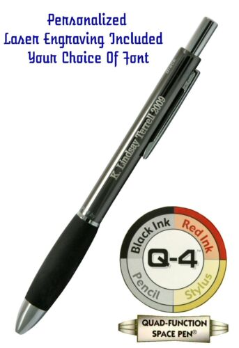 2 Two Matte Black Fisher Space Pens Personalized #M4B