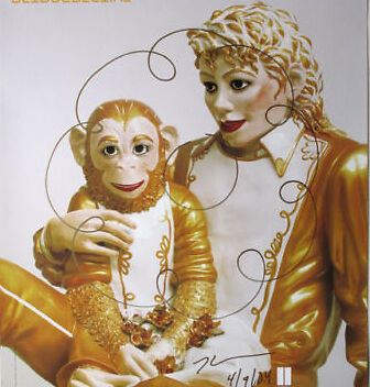 JEFF KOONS MICHAEL JACKSON SIGNED and DRAWING by KOONS
