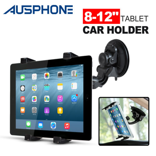 Car Windscreen Suction Mount Holder For iPad Mini Pro Samsung Tablet PC 8-12""