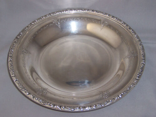 ANTIQUE TOWLE STERLING SILVER BOWL WITH FANCY CHASED DESIGN & DECORATIVE EDGE