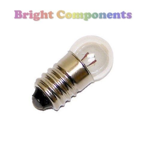 2x MES Miniature Lamp Light Bulb : 1.5V to 12V : 11mm : E10 : 1st CLASS POST <br/> 1st CLASS POST **Use Basket for Combined Flat Postage**