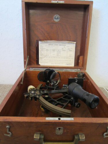 "VINTAGE NAVIGATIONAL ""GERMAN"" ""PLATH"" SEXTANT"