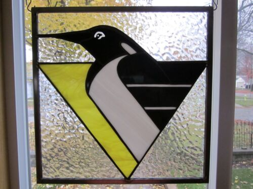 PA Penguins Stained Glass Window Panel EBSQ Artist